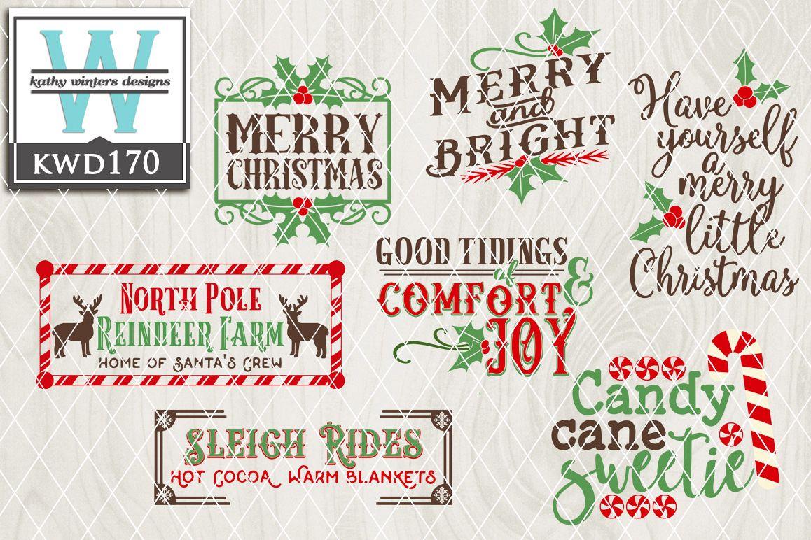 Christmas Cutting File KWD170 example image 1