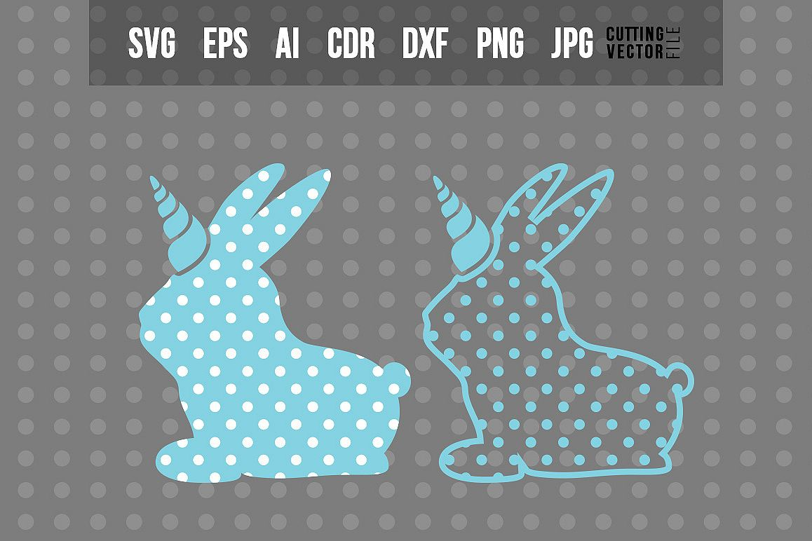 Bunny Unicorn with Polka-Dots - Easter Design example image 1