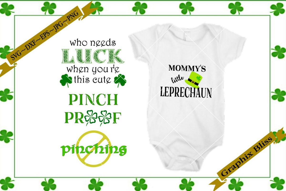 St Patrick's Day Irish Baby Children's Bundle SVG example image 1