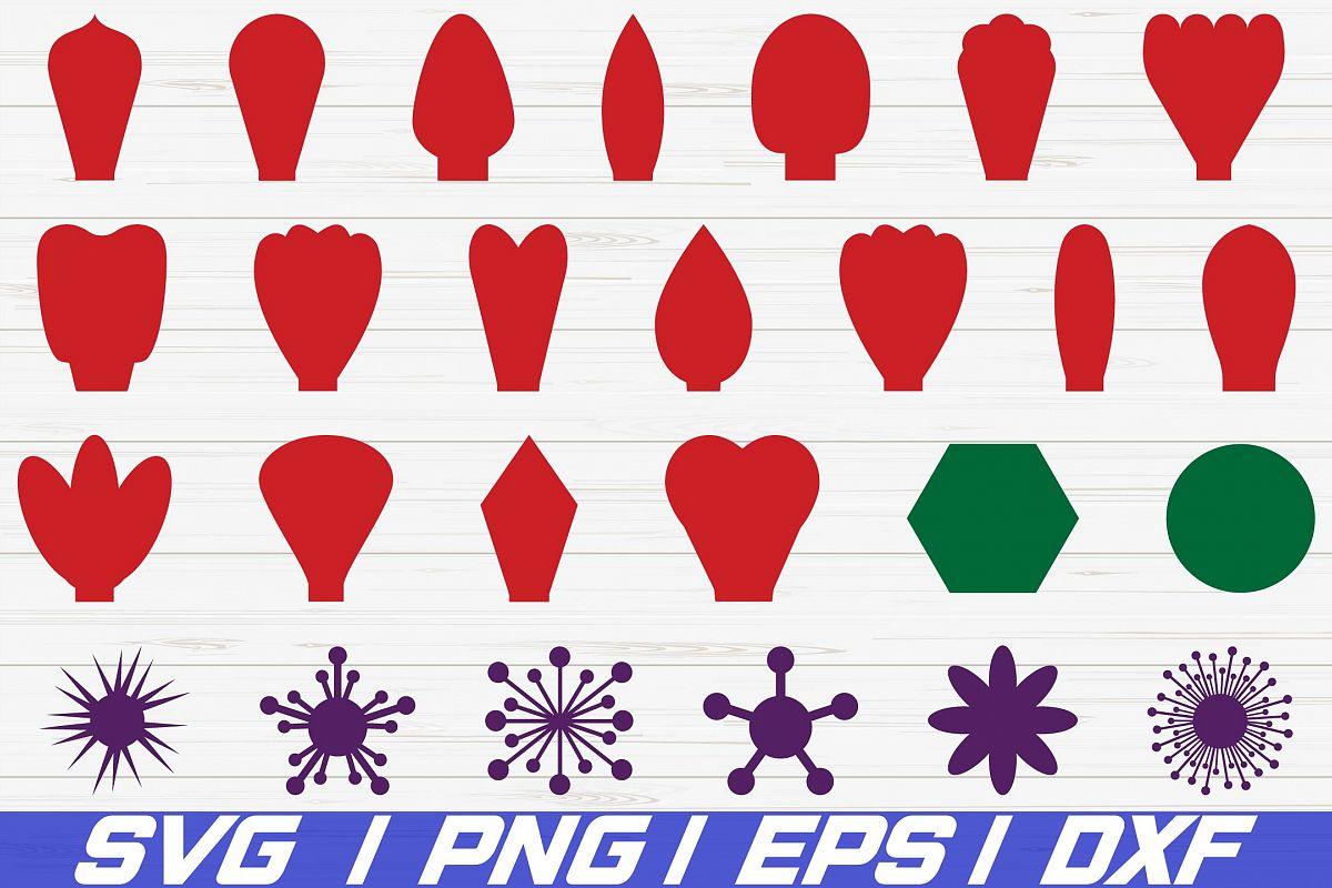 Paper Flower Kit / SVG / Petal Templates / Flower Templates example image 1