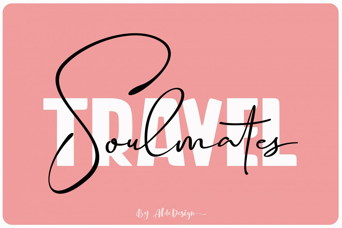 Travel Soulmates // Font Duo example image 1