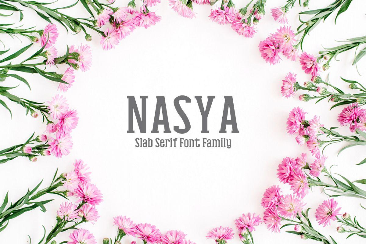 Nasya Slab Serif 4 Font Family Pack example image 1
