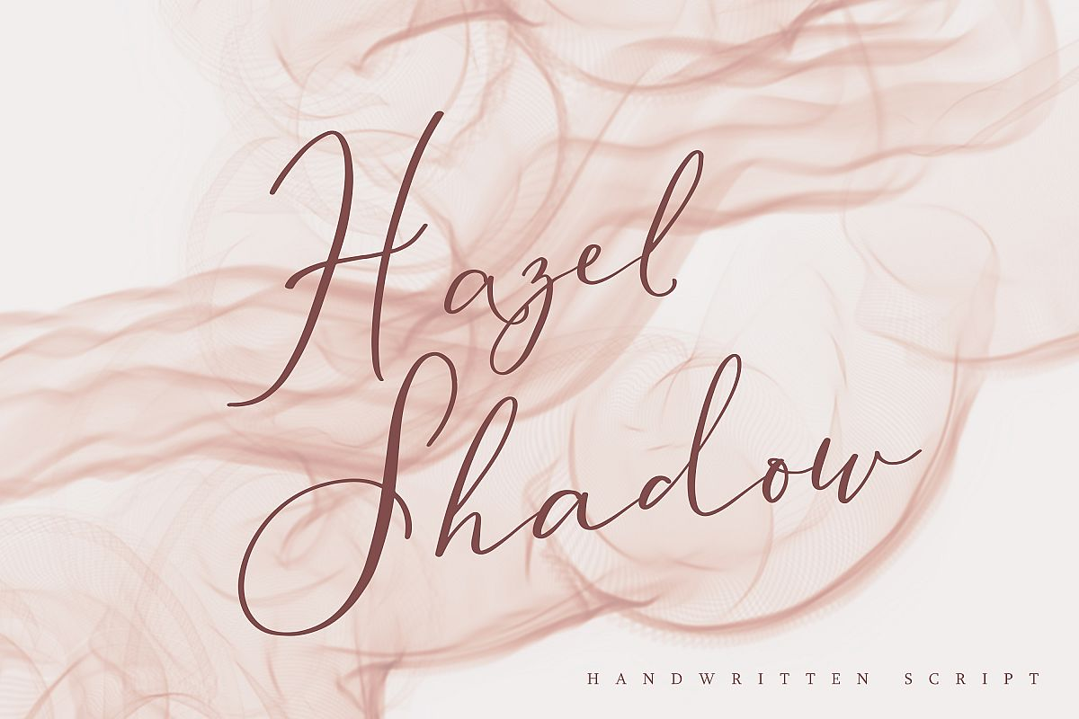 Hazel Shadow, beautiful calligraphy font example image 1