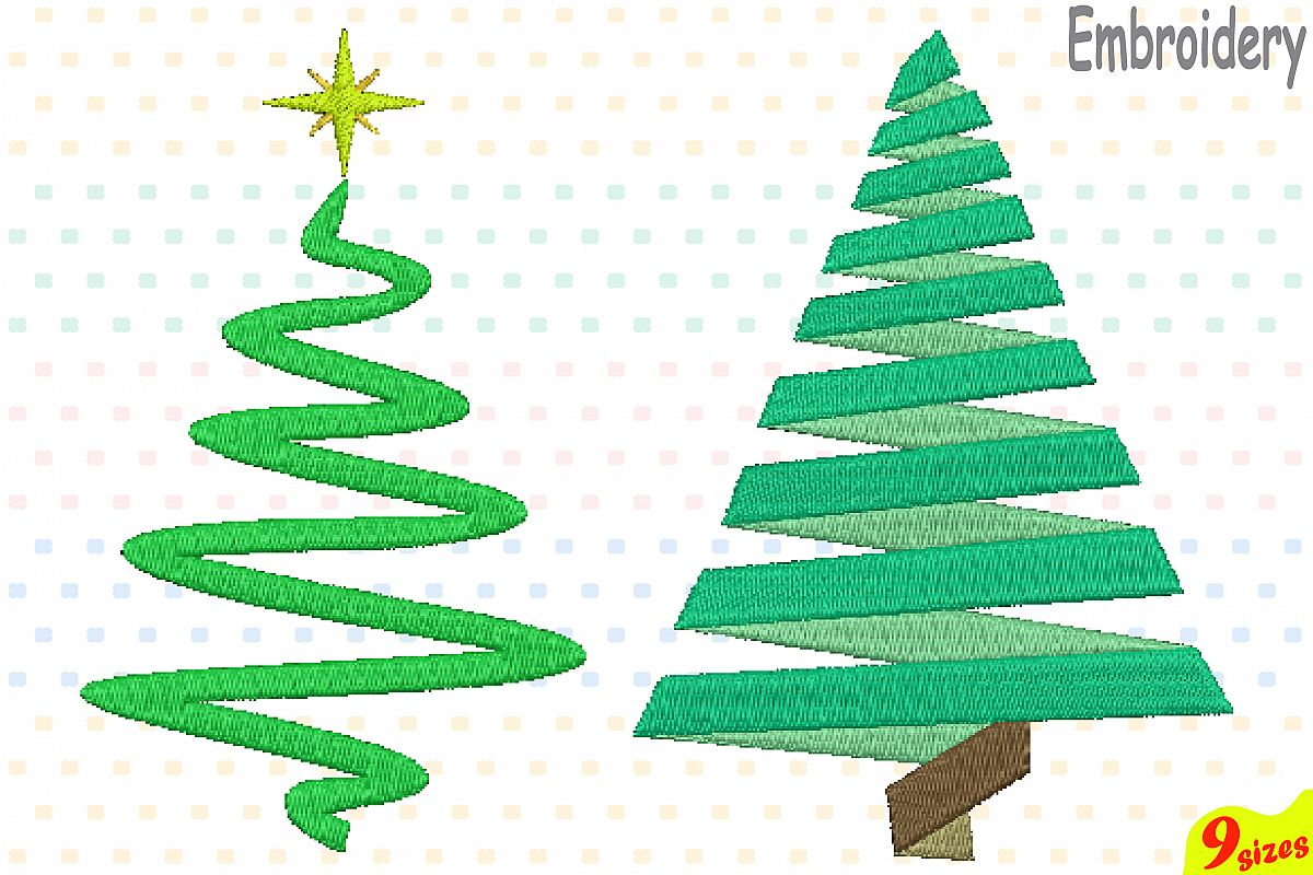 Christmas Tree Embroidery Design. Machine Instant Download ...