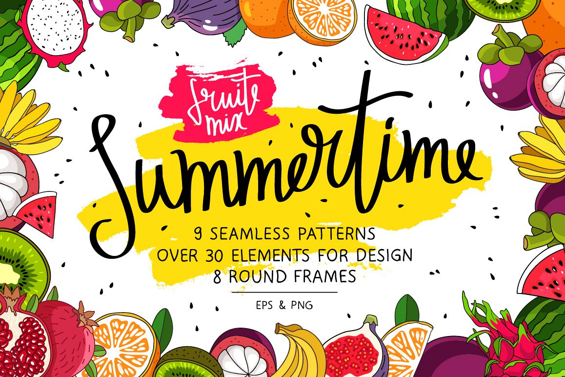 Summertime. Fruit Mix example image 1