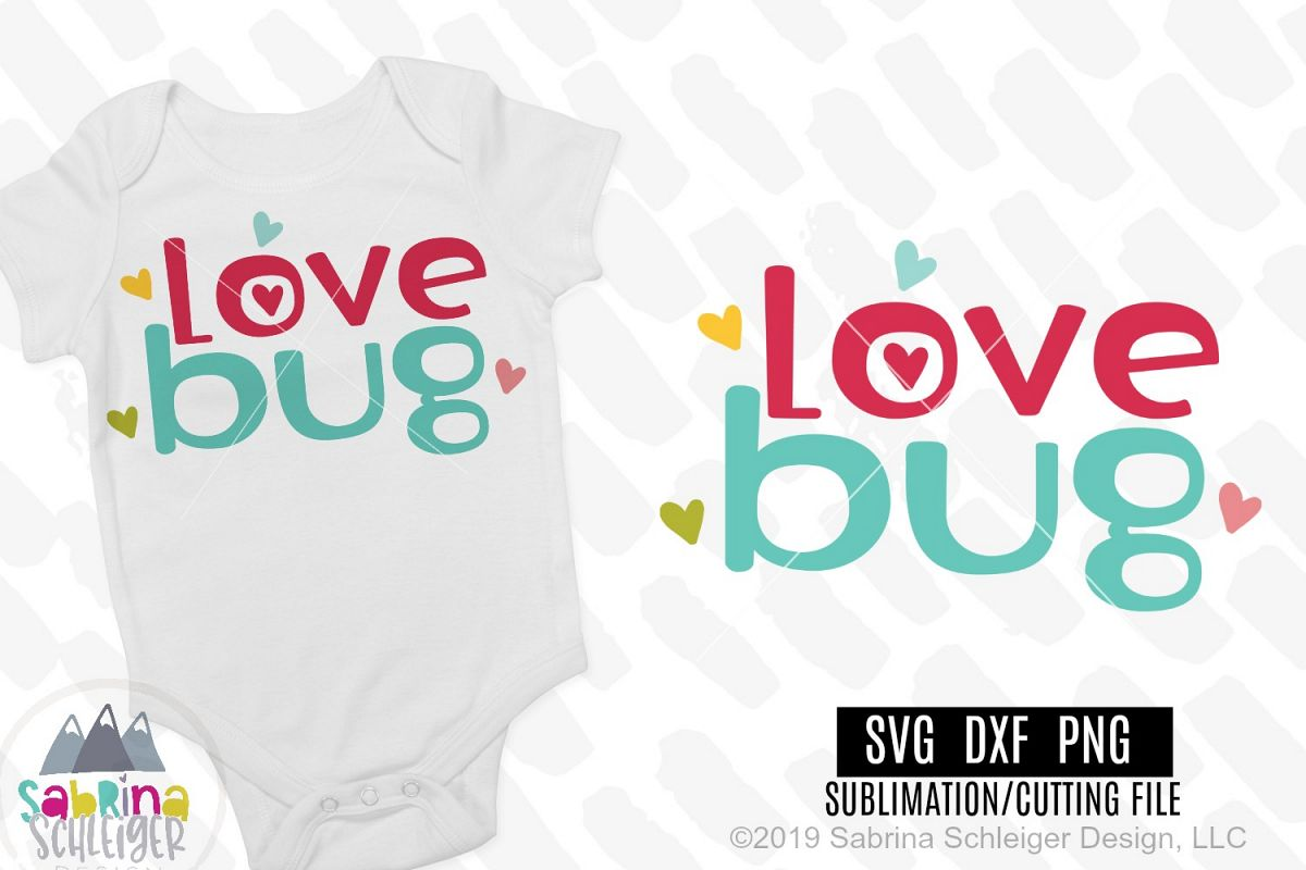 Love Bug- Kids Valentine SVG Cutting File example image 1