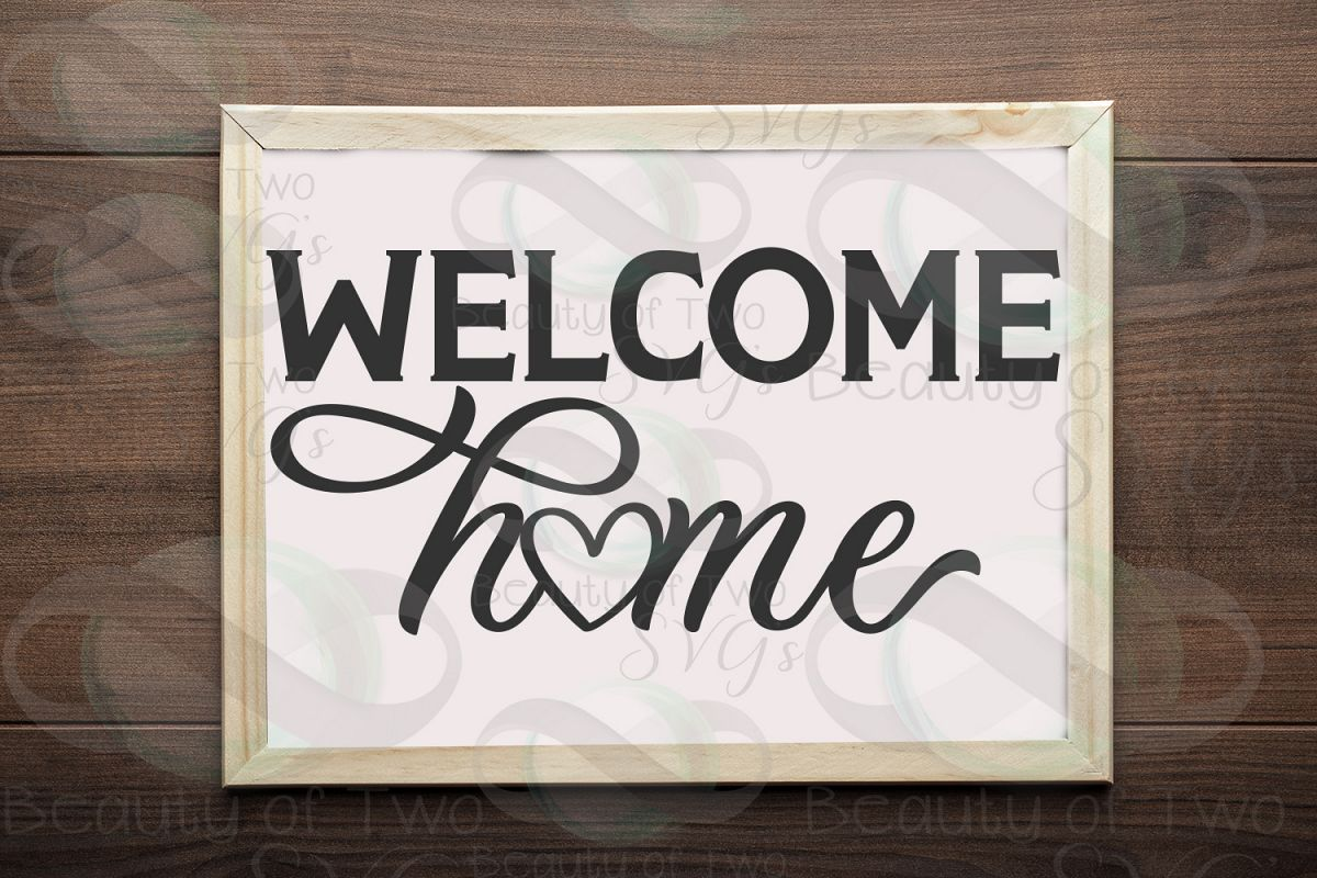Welcome Home sign svg, Home Farmhouse svg and png, Home svg example image 1