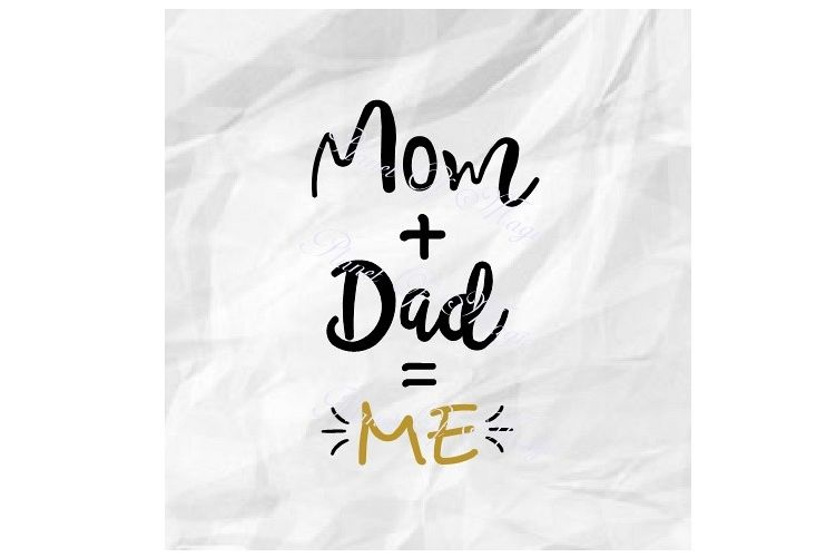Mom Dad Me Svg, New Baby Svg, Baby Quote Svg, Baby Cut File