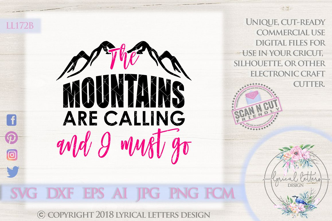 The Mountains Are Calling SVG Cut File LL172B example image 1