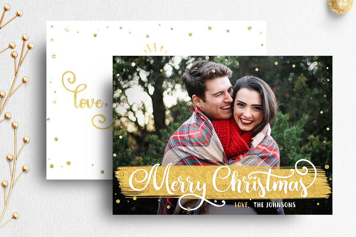 Christmas Card Template For Photographer 007