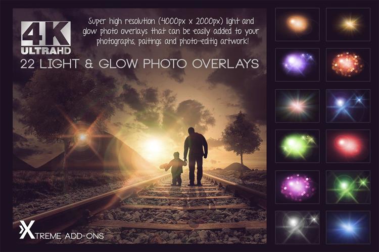 4K Light & Glow Overlays example image 1