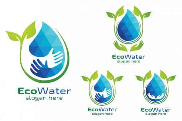 Eco Blue Water Drop Logo example image 1