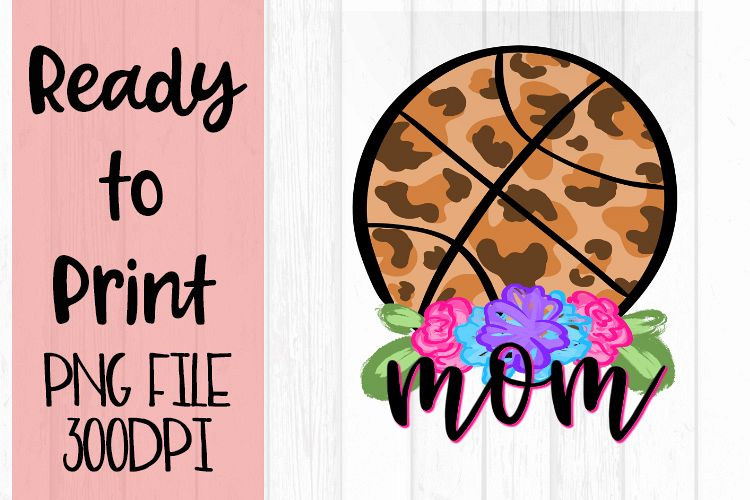 Doodle Mom Basketball Ready to Print example image 1
