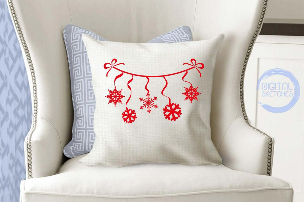 Snowflakes Christmas Cut File Vector Graphics Illustration example image 1