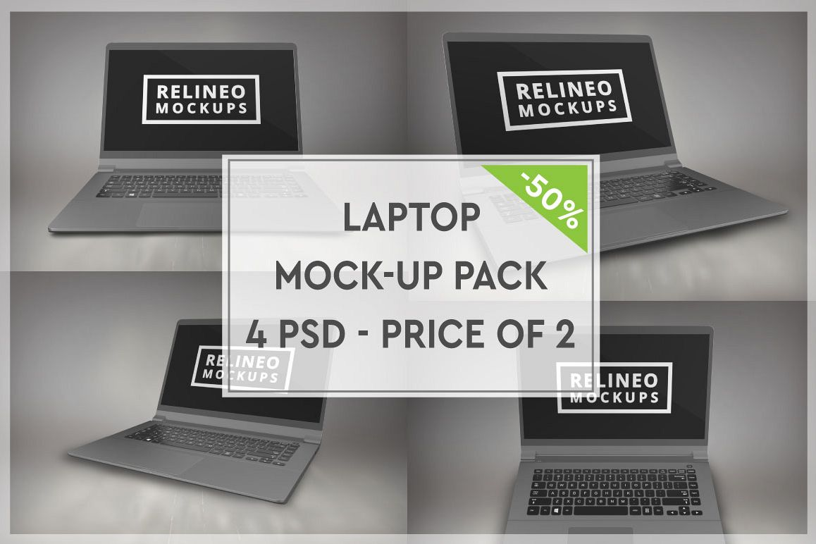 Laptop Mock-up Pack #2 example image 1