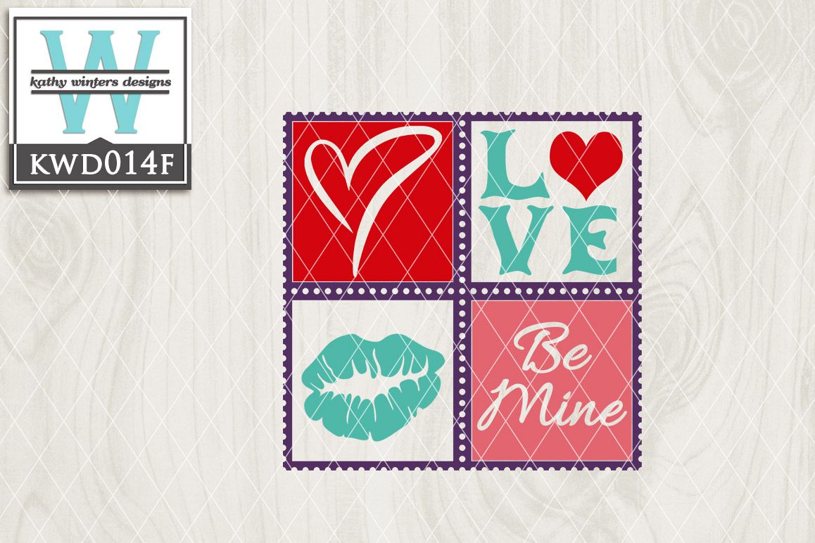 Valentines Cutting File KWD014f example image 1