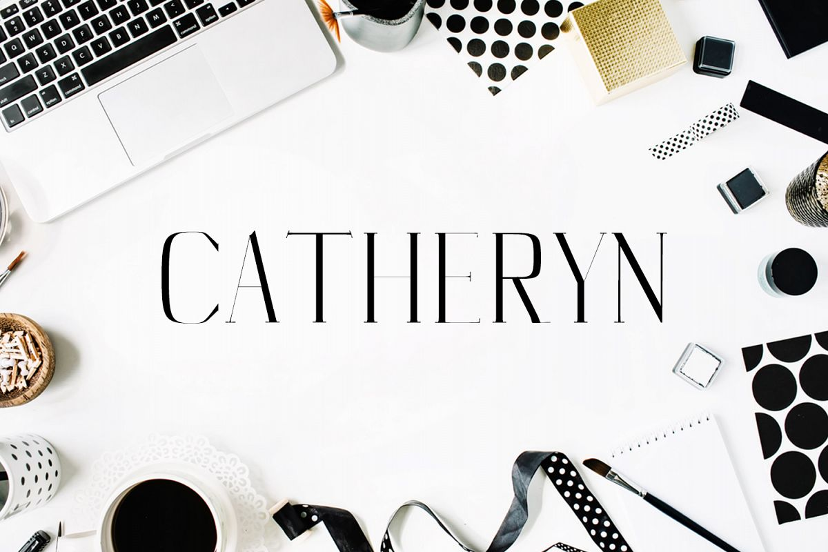 Catheryn Serif 4 Font Family Pack example image 1
