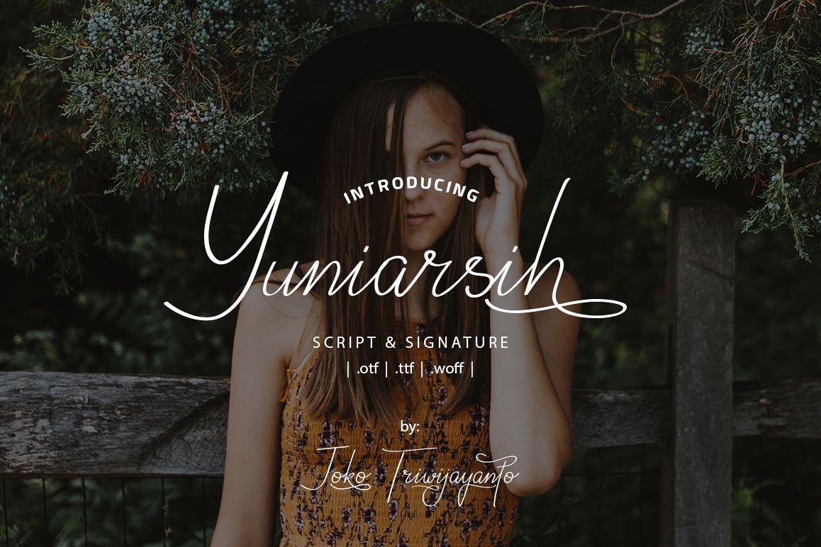 Yuniarsih Script example image 1