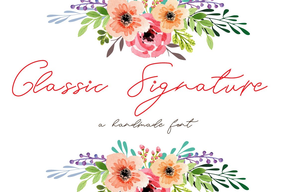 Classic Signature- A handmade cool and elegant font example image 1