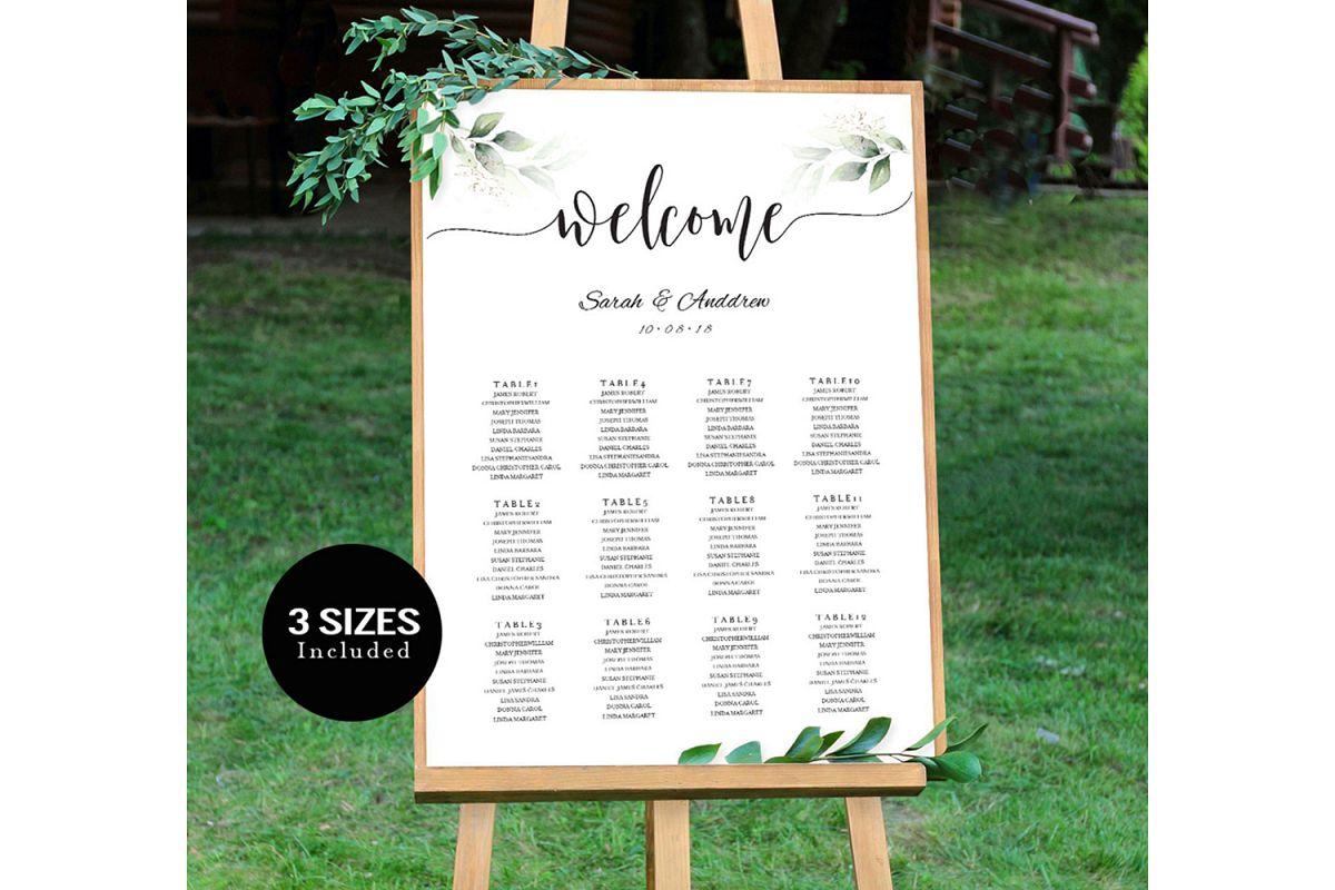 Wedding Seating Chart Sign example image 1
