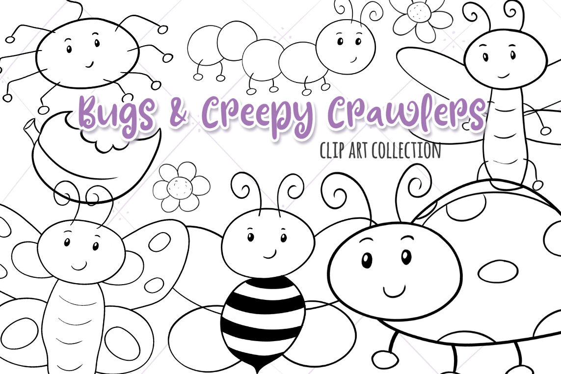 Bugs and Creepy Crawlers Digital Stamps example image 1