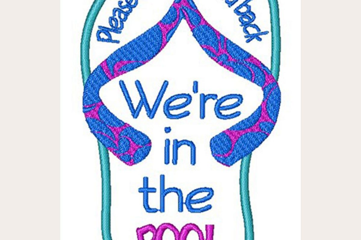 We Are In The Pool! - Machine Embroidery Design example image 1