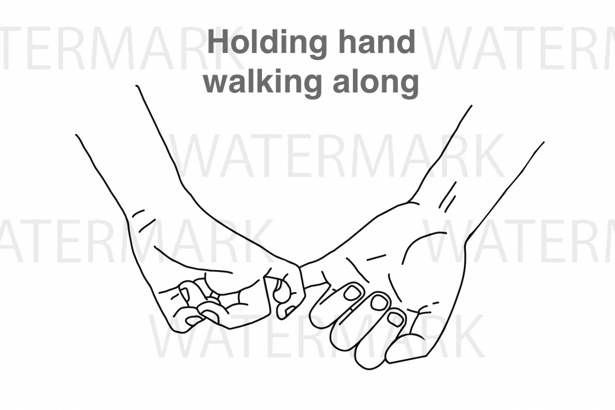 Two Hands With Holding Finger With Love Svg Jpg Png Hand Drawing