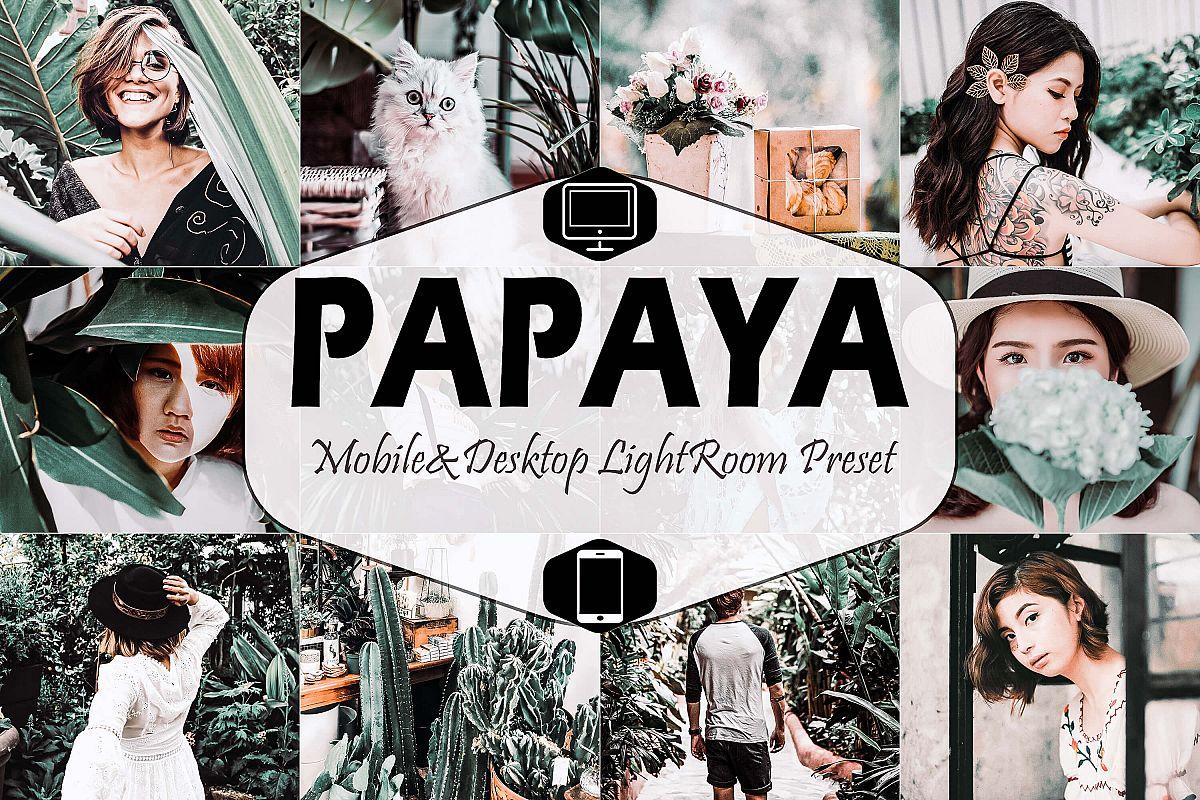 Papaya Mobile & Desktop Lightroom Presets, Bali Green LR