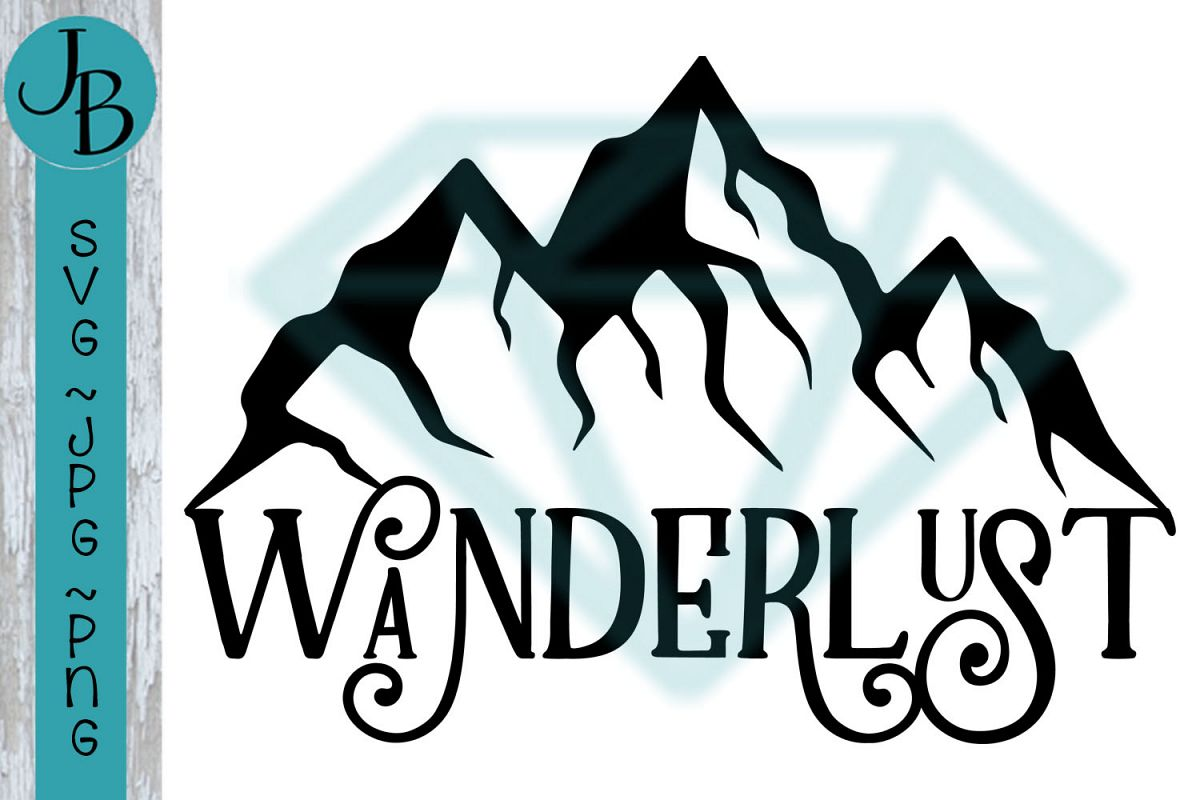 Wanderlust - Mountain Travel SVG File 1252 example image 1