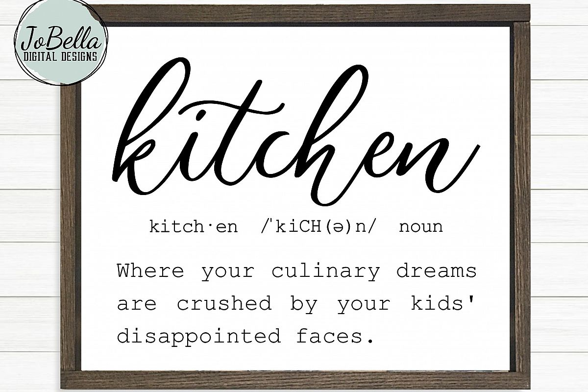 Funny Kitchen Definition SVG, Sublimation PNG & Printable example image 1