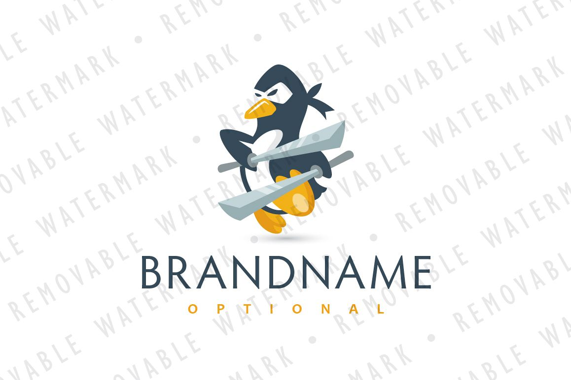 Ninja Penguin Logo example image 1