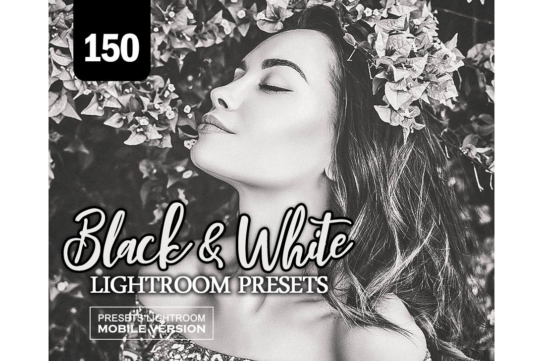 Black White Lightroom Mobile Presets Adroid and Iphone/Ipad example image 1