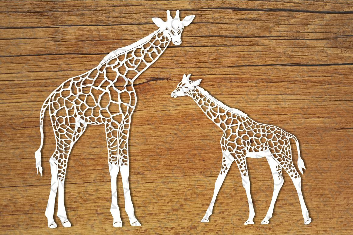 Giraffes SVG files for Silhouette Cameo and Cricut. example image 1