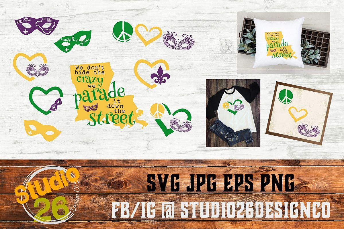 Mardi Gras Big Bundle SVG PNG EPS