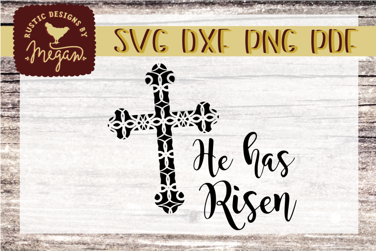 He Has Risen SVG - Easter Cut file example image 1