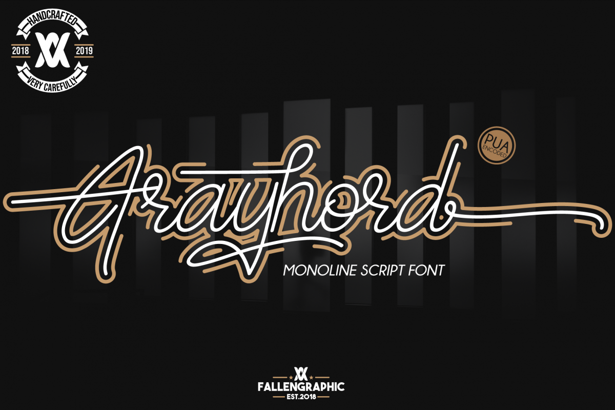 Frayhord Monoline Script example image 1