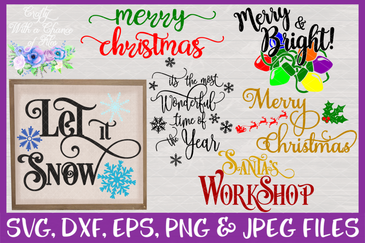 Christmas Quote SVG Bundle - Sign Designs example image 1