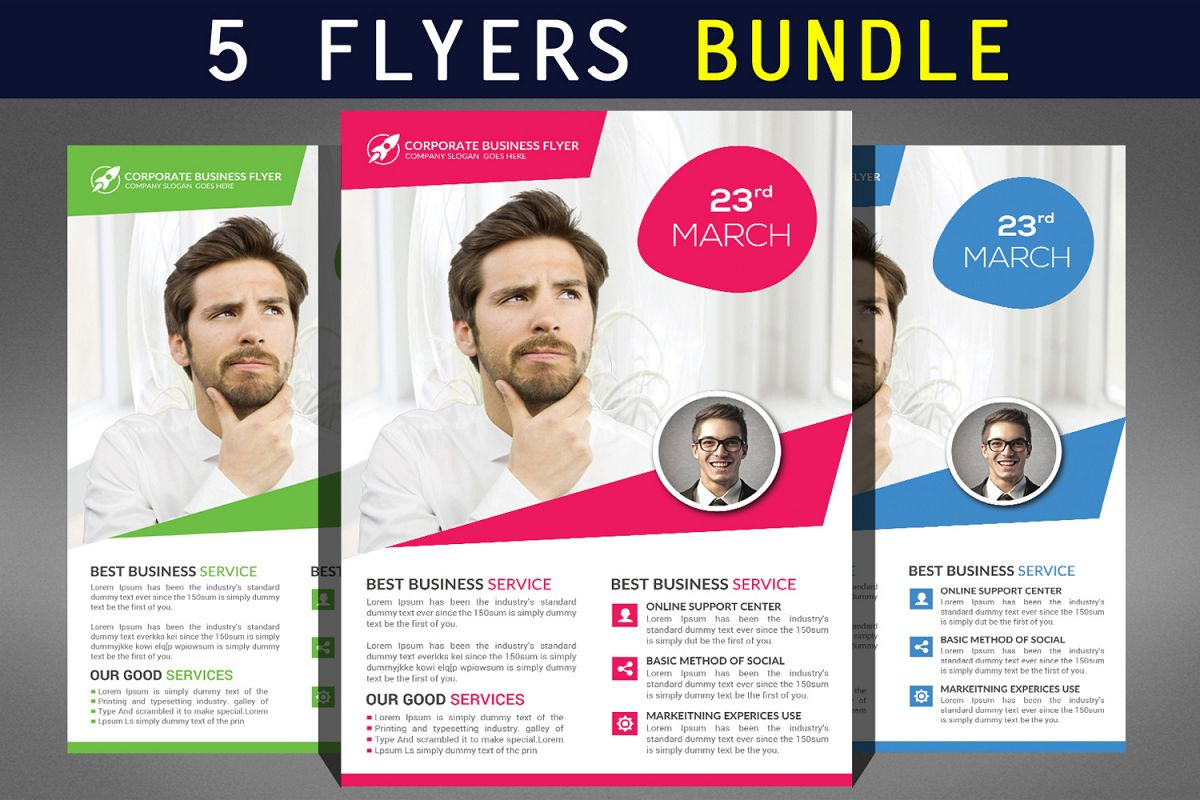 Corporate Flyer Bundle example image 1