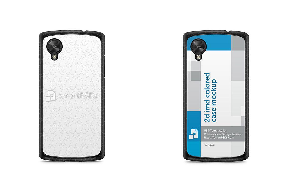 Google Nexus 5 2d Imd Colored Mobile Case Design Mockup 2013