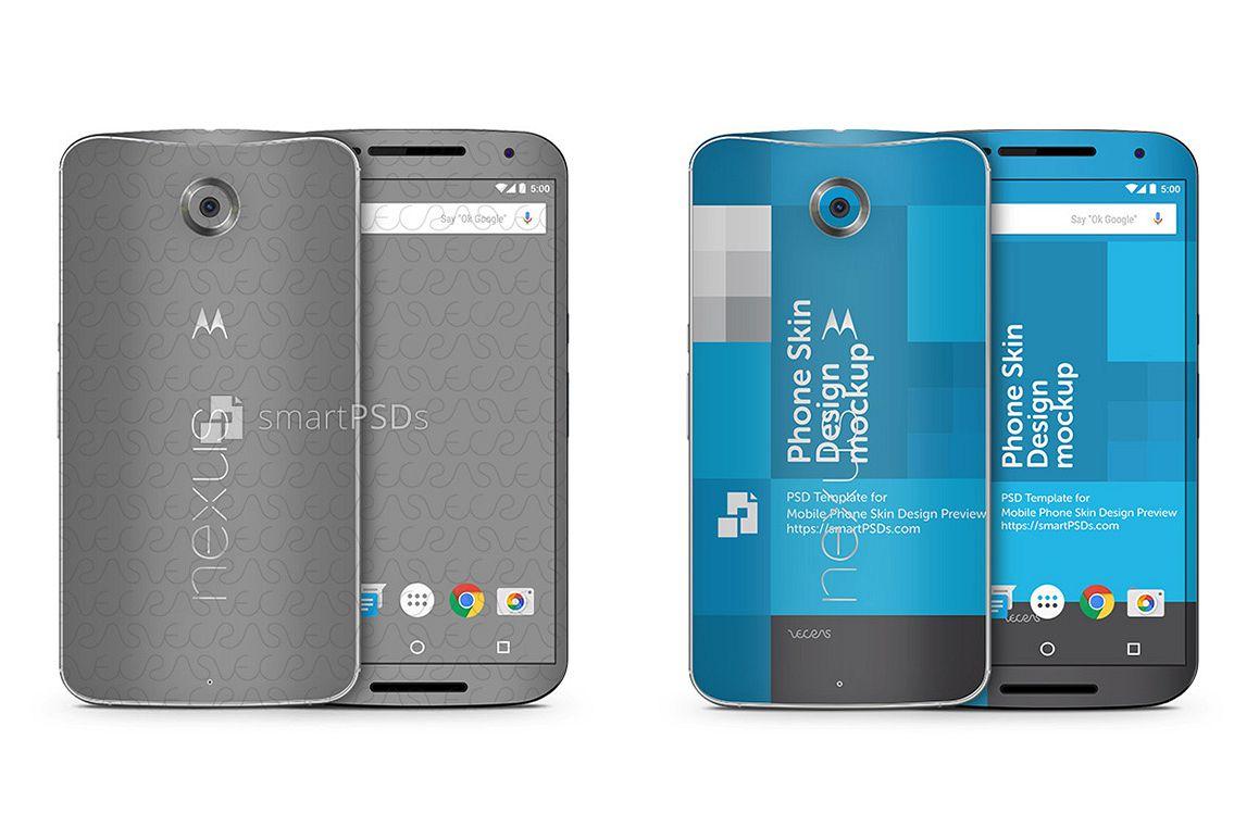 Google Nexus 6 Mobile Skin Design Template example image 1