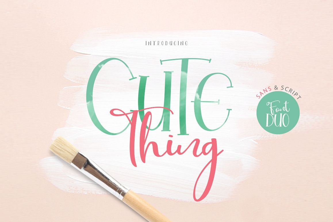 Cute Thing Font Duo example image 1