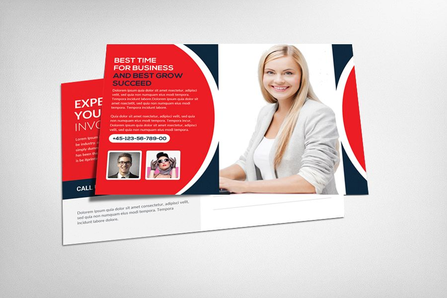 Smart Business Postcsrd Template example image 1