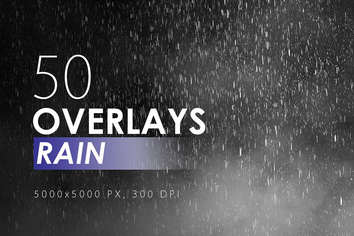 50 Rain Overlays example image 1