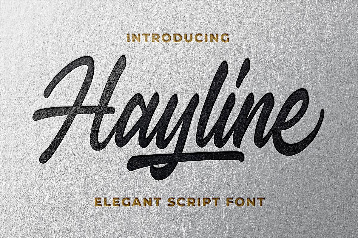 Hayline - Elegant Script Font example image 1