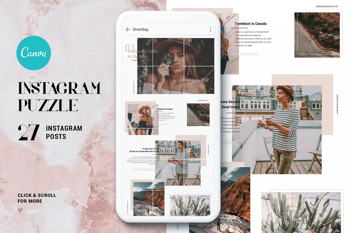 #InstaGrid 1.0 - Instagram Canva Puzzle Template example image 1