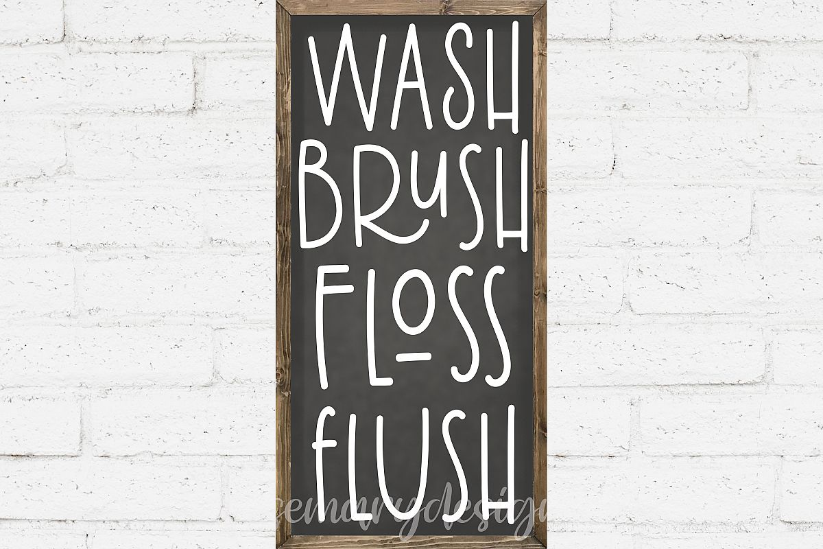 image relating to Wash Brush Floss Flush Free Printable named Clean Brush Floss Flush