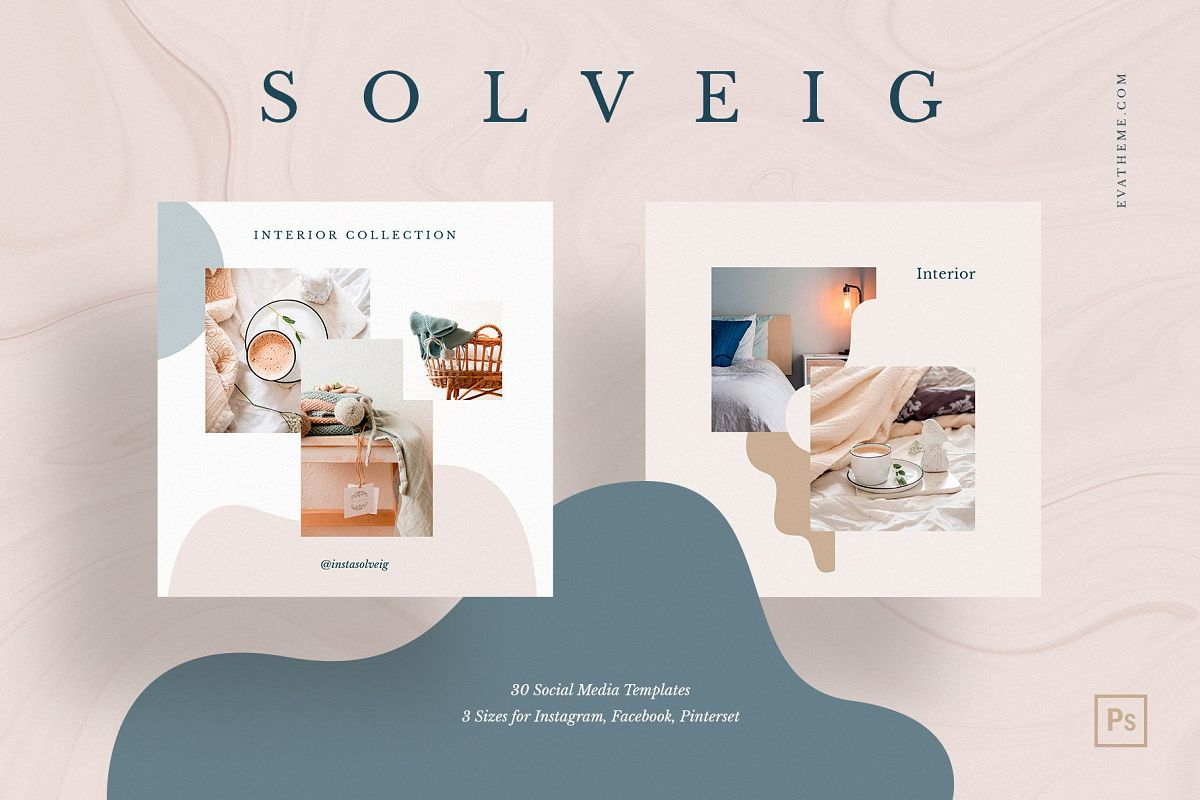 Solveig Social Media Pack example image 1