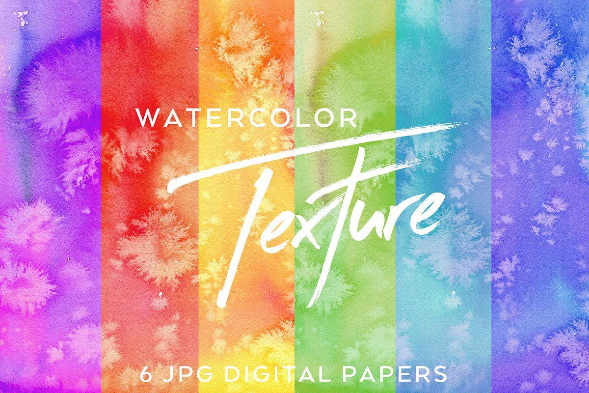 Deep Salty - 6 Watercolor Textures example image 1