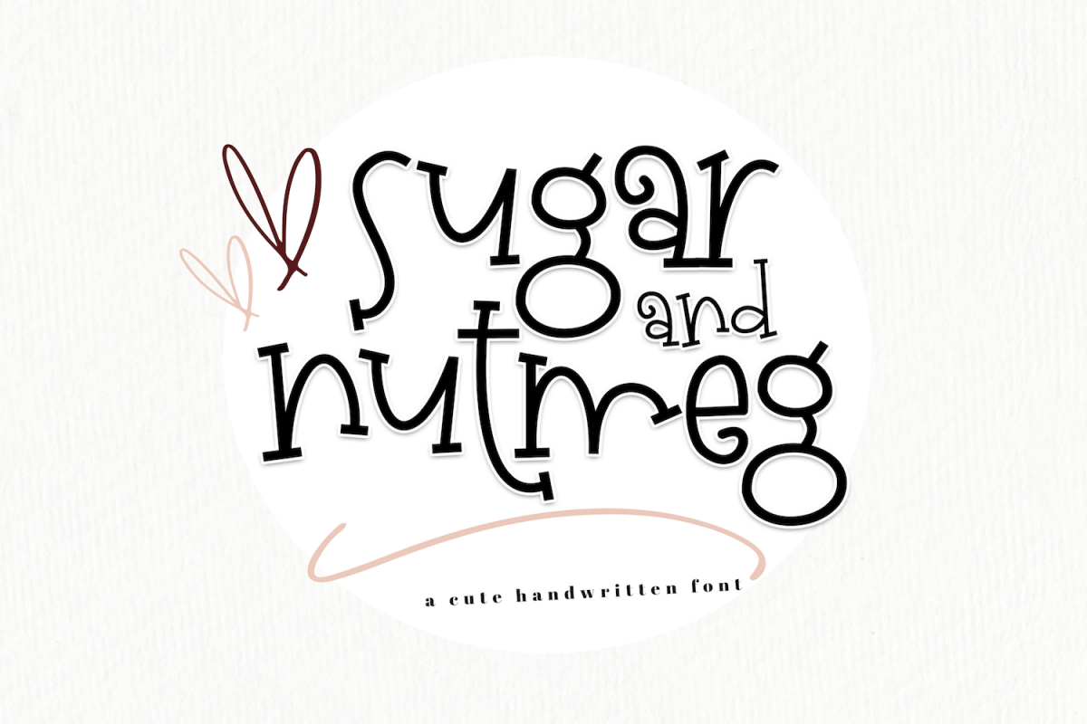 Sugar and Nutmeg - A Fun Handwritten Font example image 1