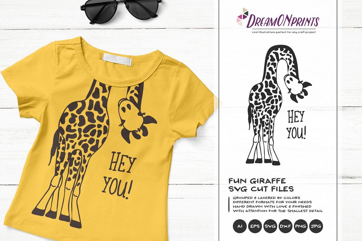 302d8e0c Hey YOU | Fun Giraffe SVG | Funny Giraffe Illustration example image 1